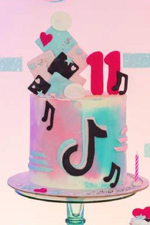 Tiktok Birthday Cake In 2021 Girls Birthday Party Themes Cake Caking It Up