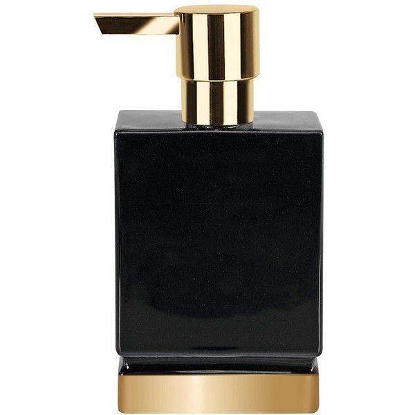 spirella spirella roma black gold soap dispenser 29 liked on polyvore featuring gold bathroom accessoriesgarden bathroombathroom