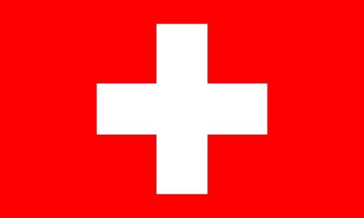 La bandera de Suïssa consistix en un camp roig quadrat amb una creu grega blanca i equilateral en el centre de la bandera, es va inspirar en la insígnia del Cantón de Schwyz, el que va rebre una creu de plata en commemoració de la seua lluita amb les tropes del Sacre.