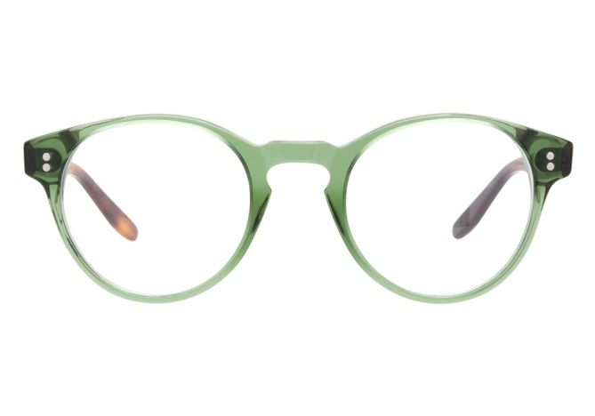 Joseph Marc 4144 Green eyeglasses combine a modern shape with upscale materials for an on-trend, contemporary aesthetic. The round wingtip frames have a slight retro vibe, which is nicely enhanced by