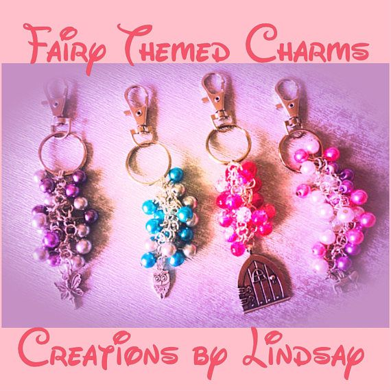 This listing is specifically for my magical, fairy themed handbag charms and party bag favours. As per the pictures, these charms are 12cm in length from the lobster clip to the end of the charm and are available in a variety of colours. These are great for handbags, schoolbags, favours for parties, weddings and trinkets for loved ones.  The charms available in this range are: Fairy Door Owl Fairy Unicorn  For colour options, please see pic 2 add the numbers for your chosen colours to the…