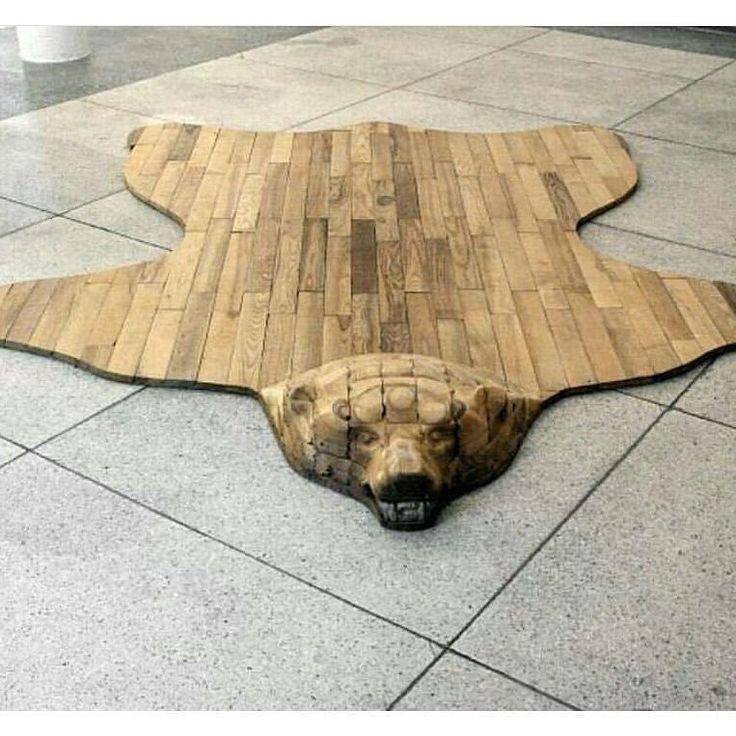 For le study #interior #interiordesign #inspiration #design #wood #furniture #woodwork #bear #wooden #furniture #rug de princesshunny13