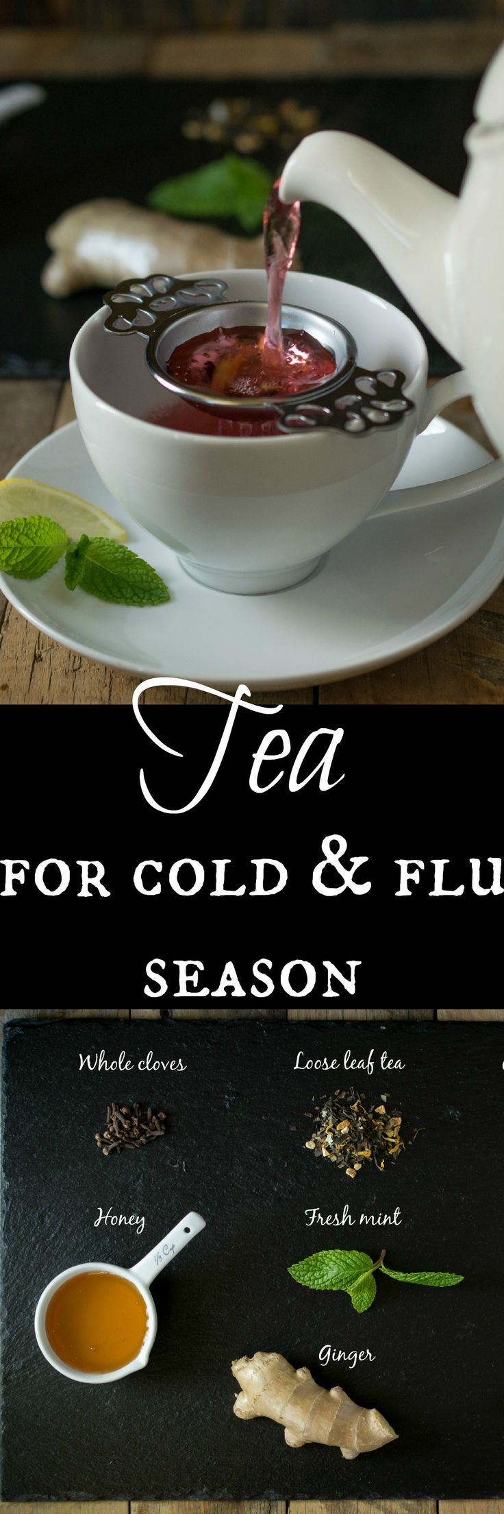 Tea for cold & flu season - My guide to natural ingredients you can add to tea to help you feel better. The Ultimate Pinterest Party, Week 75
