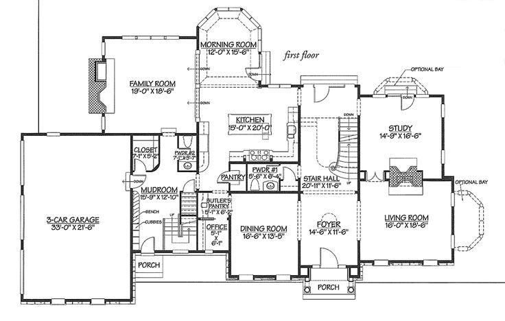 399 best large house plans images on pinterest house for Custom estate home plans