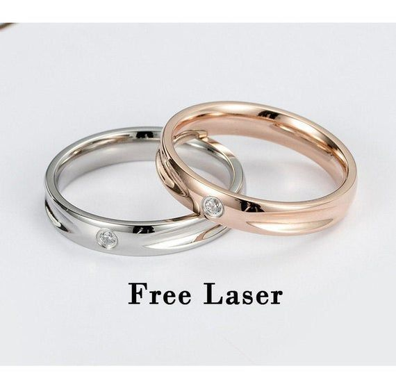 Promise Rings For Couples 1st 2nd 10 Anniversary Gift For Husband