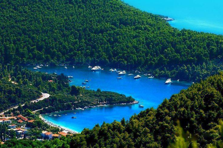 The...love bay smile emoticon - #Skopelos, #Panormos #YachtcharterGriechenland #YachtcharterSporaden