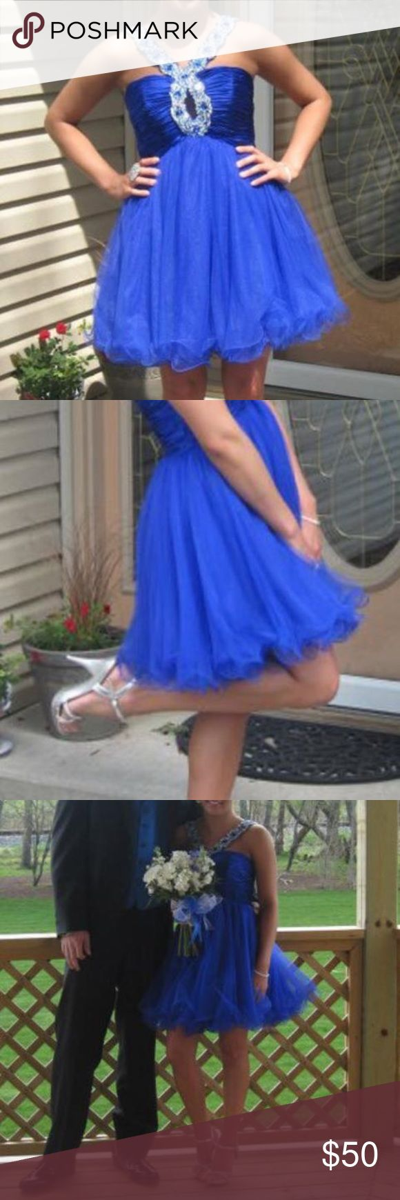 Sherri Hill Prom Dress It's a short royal blue dress ! Perfect for dances! Price is negotiable 🤗 Sherri Hill Dresses Prom