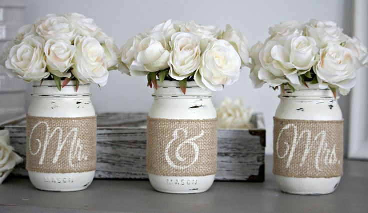 Rustic Wedding Table Decor perfect for Bridal shower or Wedding Gift  <3                                                                                                                                                                                 More
