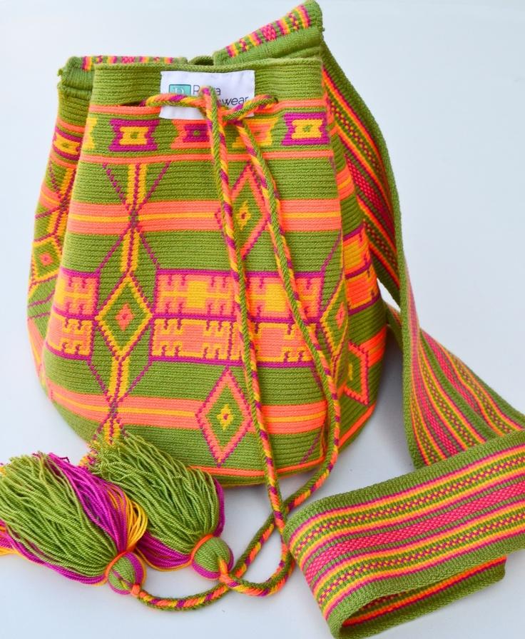Raiza Swimwear Small Green Wayuu Bag, $70.