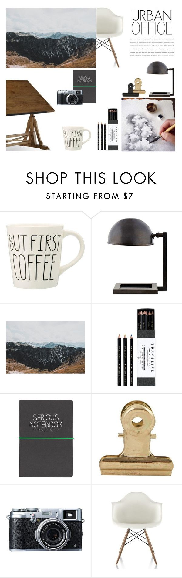 """Urban Office"" by nmkratz ❤ liked on Polyvore featuring interior, interiors, interior design, home, home decor, interior decorating, Williams-Sonoma, Mark's Tokyo Edge, Wild & Wolf and House Doctor"