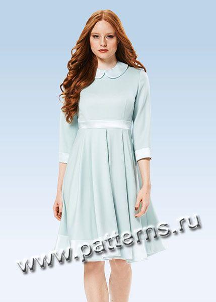Выкройка Burda (Бурда) 7012 — Платье | Молодежная мода