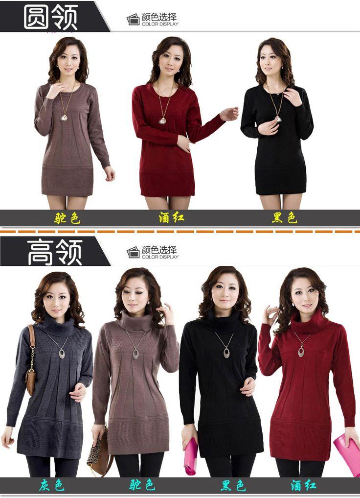 Осенью и зимой среднего возраста женщин свитер дна рубашки среднего возраста свитер большого размера свободные матери пальто купить на AliExpress
