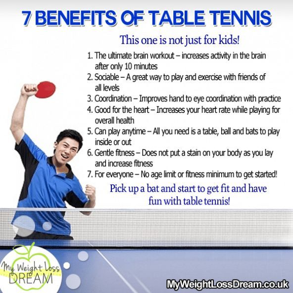 The 7 Benefits Of Table Tennis This Is Not Just For Kids Fitness Fitnessti Table Tennis Play Tennis Tennis Drills