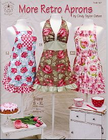 retro aprons: Sewing Baskets, Idea, Christmas Shops, Art Crafts, Sewing Projects, Retro Aprons Patterns, Cindy Taylors, Taylors Oats, Patterns Books
