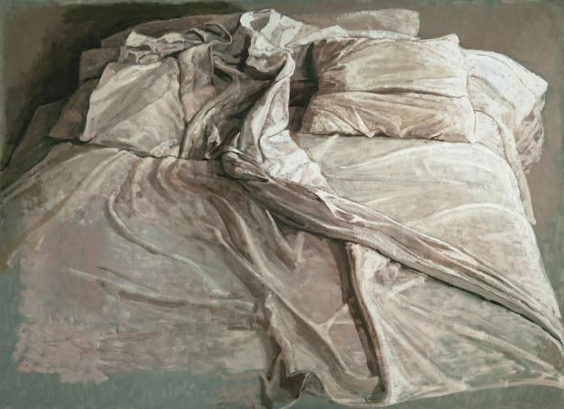 Safet Zec - (le lit) - Bed - Undated. Etching.  ((Zec, a Bosnian painter and graphic designer.was born in 1943, the last of eight children of a cobbler. nice bio here http://www.galleriadelleone.com/artistes/zec/zec-bio.htm ))