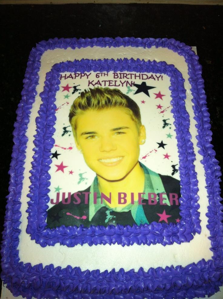 Bieber Birthday Cake