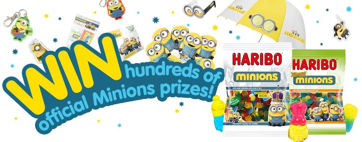 WIN hundred of official Minions prizes!