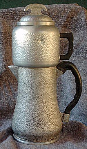 Vintage Guardian Ware Hammered Aluminum Coffee Pot Drip
