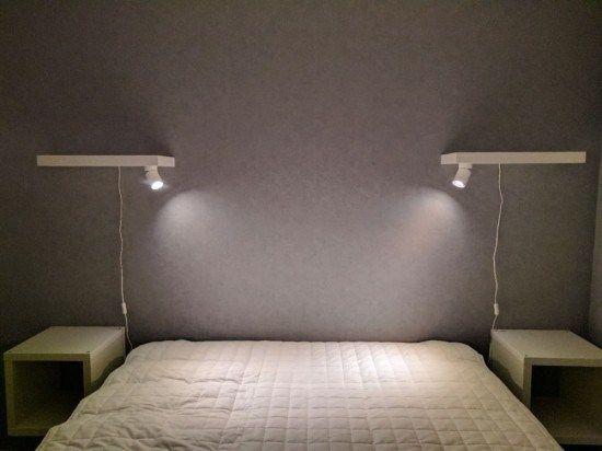 Minimalist bedside reading lamps