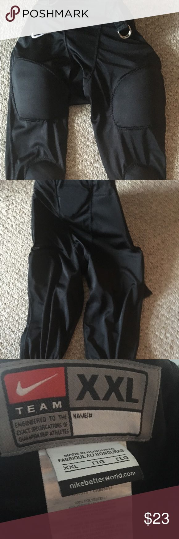 Nike Football Pants XXL Youth Black Padded Nike Football Pants XXL Youth Black Padded with Belt Nike Other