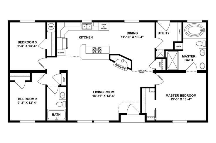 600 best floor plans images on pinterest mobile home for 24x50 house plans