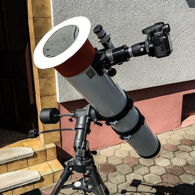 Shared by albirea1 #astrophotography #contratahotel (o) http://ift.tt/2eyOzN0 from @debergi: Again my setup but this time in a special edition because of the upcoming transit of mercury. This is how I observe and photograph the sun. It's nothing speacial and not the best but it works. For more details to this setup keep on reading.  As you see I use my 5 Newtonian and not my 10 Schmidt-Cassegrain because the focal length of the SC ist too big. I could buy a reducer but with a larger filter…