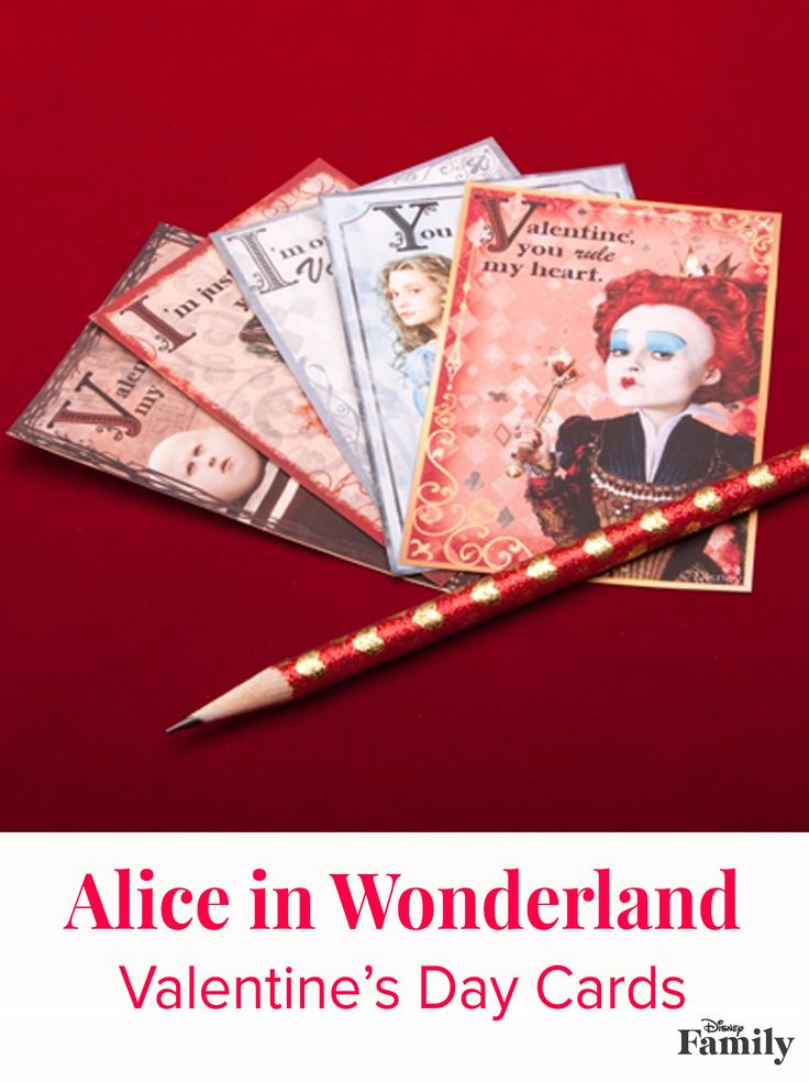 Is there someone who makes you curiouser and curiouser or delightfully mad? Let them know with one of these free printable Alice in Wonderland Valentine's Day cards.