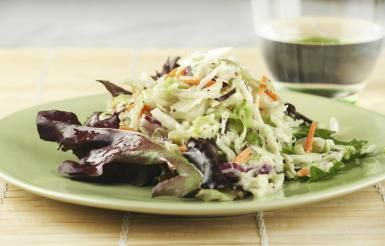 Sugar free coleslaw dressing (calls for sugar substitute, I used stevia). This was very good, though sweeter than I'm used to coleslaw being. It's a mayo/sour cream based with a little lemon juice for the acid. Definitely not a vinegar-based type of slaw. I'll definitely make this again. - DishwasherRequired.com