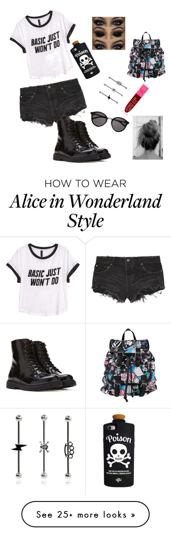 """Untitled #50"" by seriousblackk on Polyvore featuring Ksubi, Forever 21, H&M, Yves Saint Laurent, Valfré and Disney"