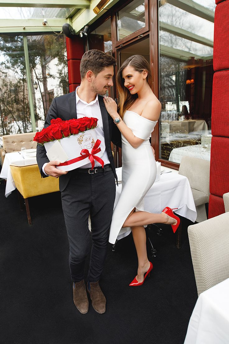 Valentine's Day date night outfit with a white dress and red stilettos today on my blog: http://larisacostea.com/2017/02/valentines-day/