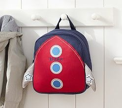 finally found an awesome rocket backpack for my little guy! its out of this world!