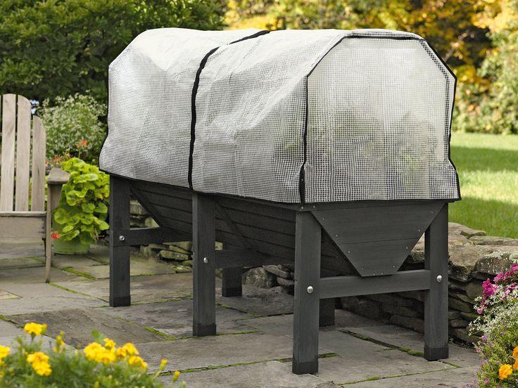 elevated raised garden beds. Charcoal VegTrug Patio Garden With Covers | Elevated Raised Bed Beds