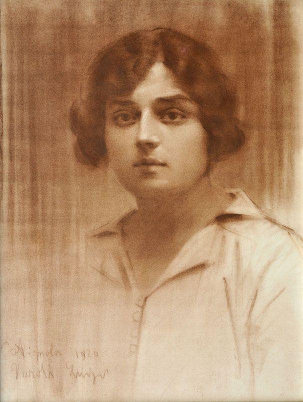 Luigi Varoli/Ritratto di Cristina/1926/Matita grassa su carta, cm 58x44/collezione privata Ravenna