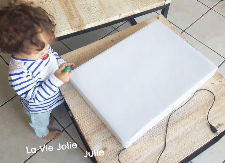 diy fabriquer une table lumineuse montessori cie comment fabriquer une table lumineuse. Black Bedroom Furniture Sets. Home Design Ideas