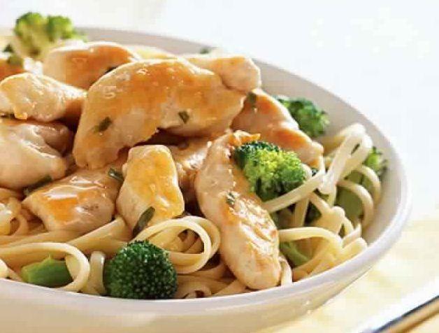 CHICKEN LINGUINE | Weight Watchers Recipes (7 Smart Points)