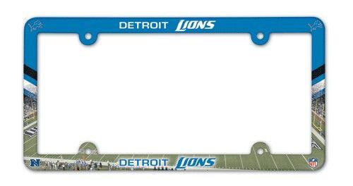 Detroit Lions NFL License Plate Frame  -  Full Color