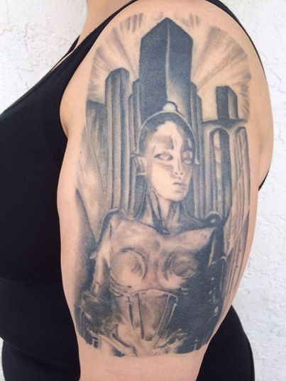 My Metropolis tattoo. Done by Jim Gibbons at Alternative Connection in Melbourne, FL.