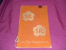 vintage Tao Tao restaurant menu Asian Chinese food cuisine Sunnyvale CA card