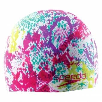 Speedo Hydro Tribe Wild Swim Cap at AquaGear® Swim Shop