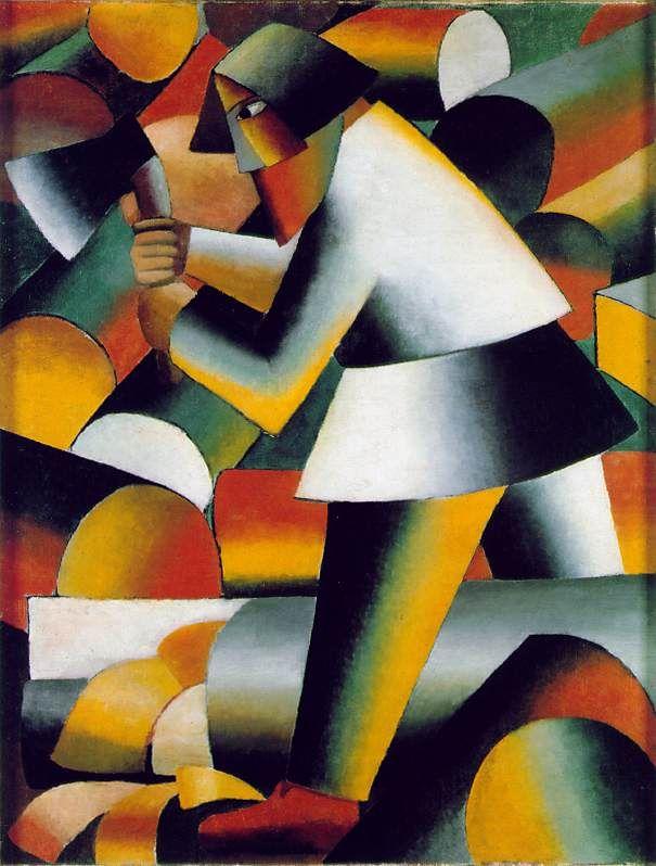Woodcutter - Kasimir Malevitch- 1912