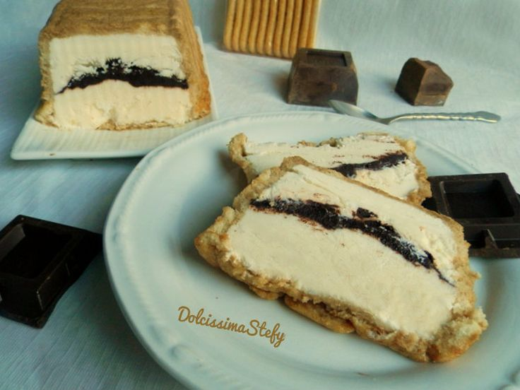 Parfait Pavesini (Ladyfingers) Mascarpone and Chocolate - Semifreddo di Pavesini al Mascarpone e Cioccolato