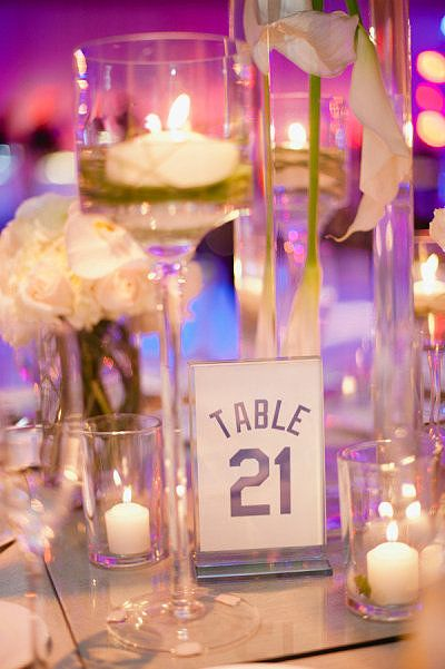 Hockey Wedding Ideas: Jersey Table Numbers