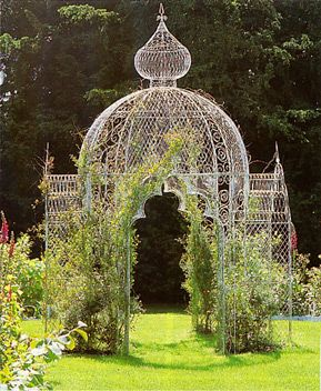 Victorian rose temple - don't you just feel the need to have one of these in your garden : ) can just imagine it if only there was more space lol