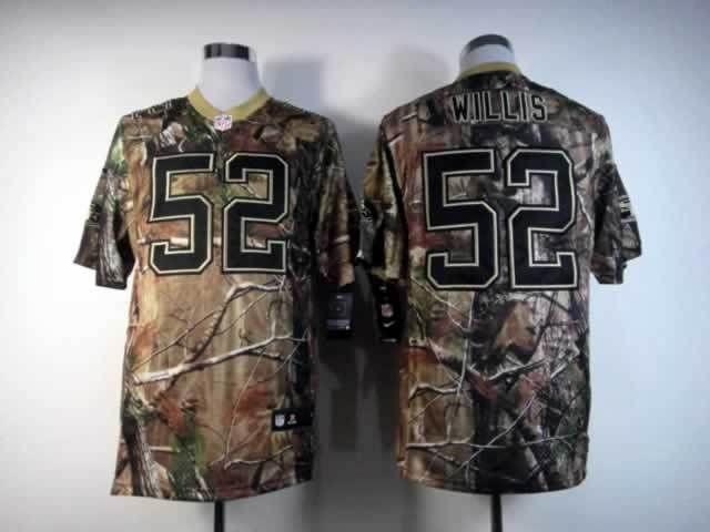 Nike NFL San Francisco 49ers #52 Patrick Willis Camo Realtree Elite Super  Bowl XLVII Jerseys