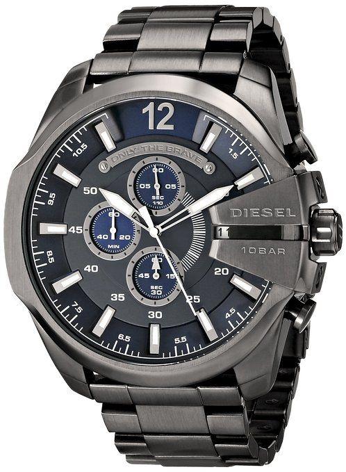 Reloj Diesel Mega Chief Dz4329 Hombre Azul