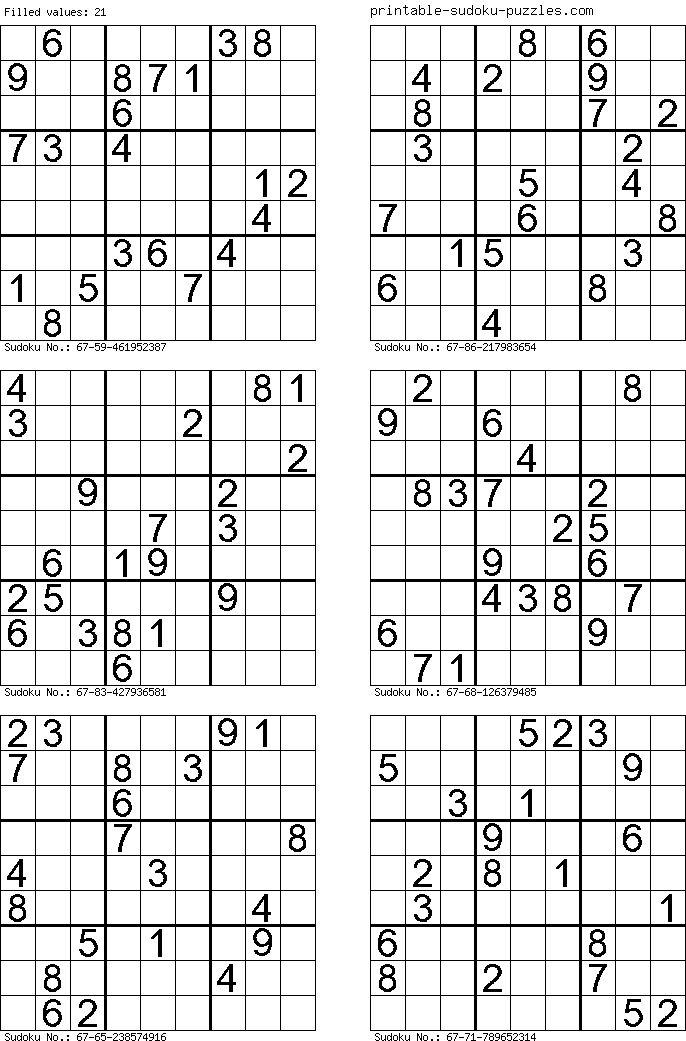 21.php Sudoku printable, Sudoku, Free printable