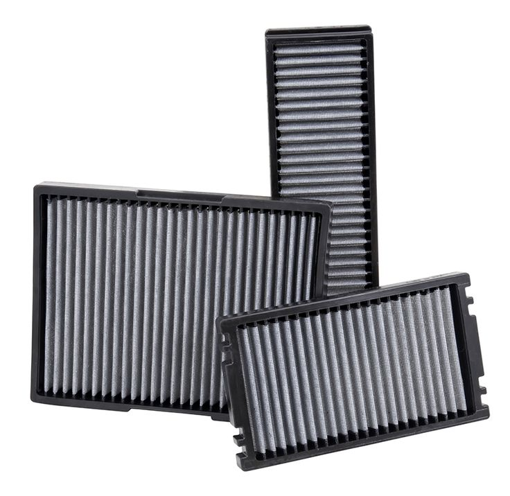 K&N's line of cabin air filter are designed to electrostatically grab and hold onto particles