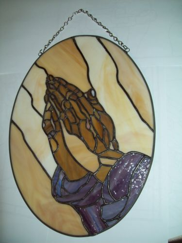 Stained Glass Praying Hands