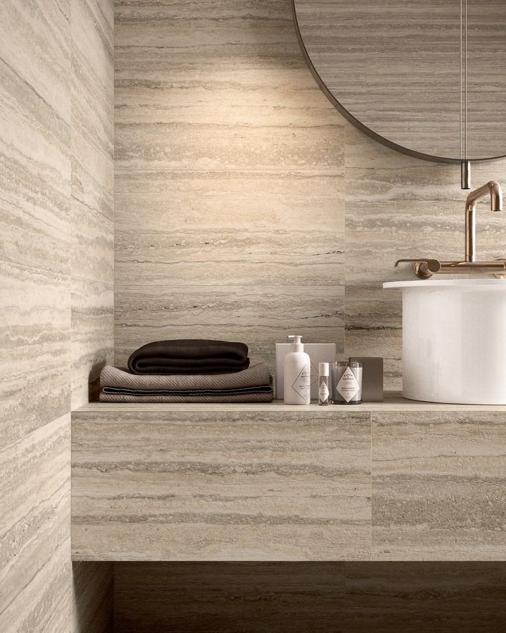 The rarest travertines existing in nature have been faithfully reproduced and travertine- effect ceramic slabs with a deep aesthetic design have been invented.  #CeramicaSantAgostino #travertine #marble #design #art #sculpture #designtiles