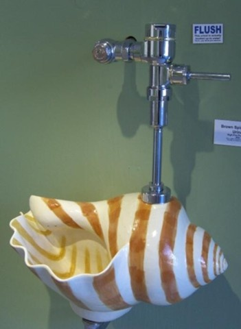 Who wouldn't want a shell urinal?